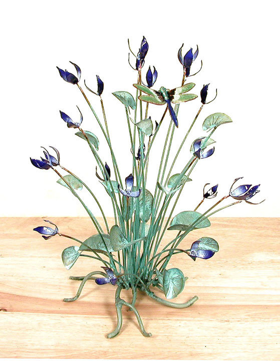 Bovano - Table Top Flowers with Dragonfly Large