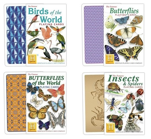 Playing Cards - Birds, Butterflies, Insect or Flowers