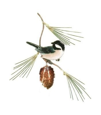 Bovano - Chickadee with Pine Bough