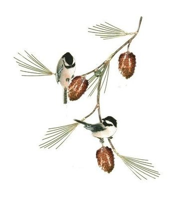 Bovano - Chickadees with Pine Bough
