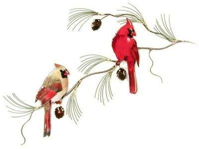 Bovano - Cardinal Pair on Pine