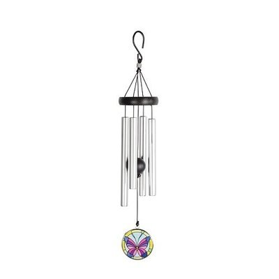 Stained Glass Butterfly Chime