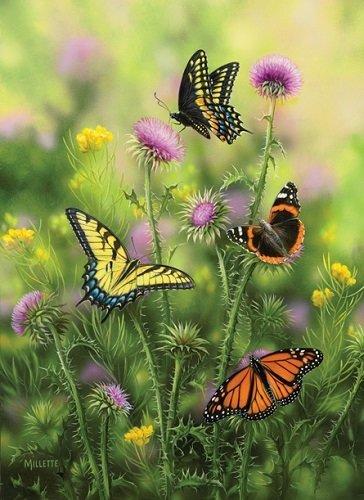 Puzzle - Butterflies & Thistle