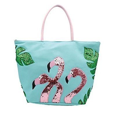 Bag - Sequin Flamingo Tote