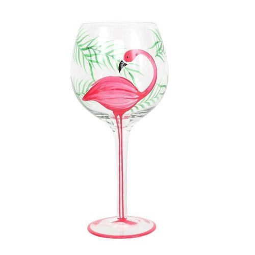 Wine Glass - Flamingo