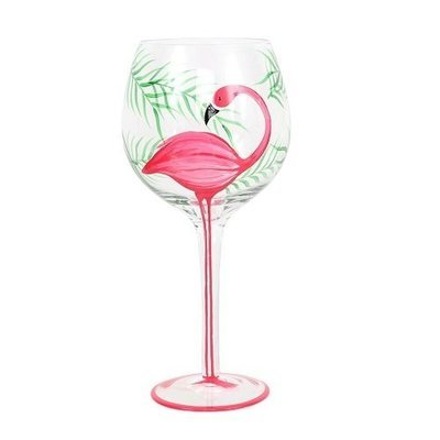 Wine Glass - Flamingo