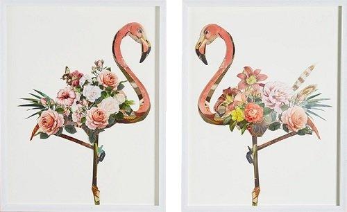 Wall Art - Floral Flamingo