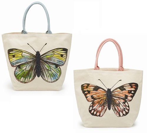 Bag - Beaded Butterfly Tote