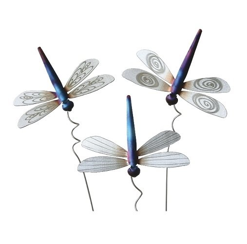 Stainless Steel Dragonfly Stakes