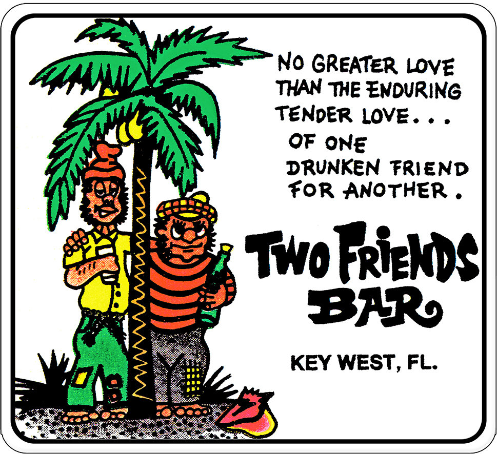 "2 FRIENDS BAR  * 8"" x  8"" 10003"