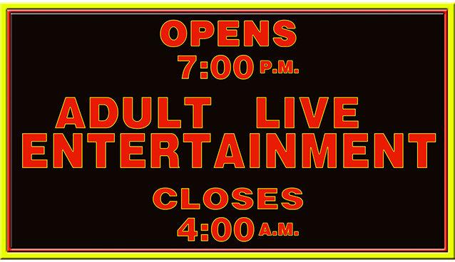 ADULT LIVE ENTERTAINMENT * 5'' x 11''