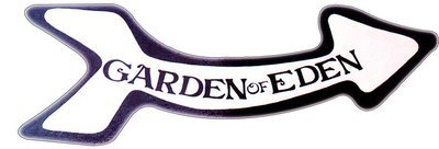 GARDEN OF EDEN ARROW * 5'' x 16''