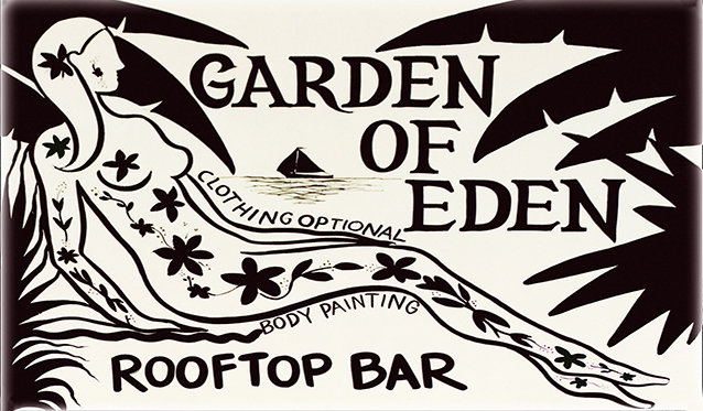 GARDEN OF EDEN TATOO * 6'' x 11'' 10035