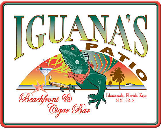 IGUANA'S PATIO BAR * 8'' x 10'' 10041