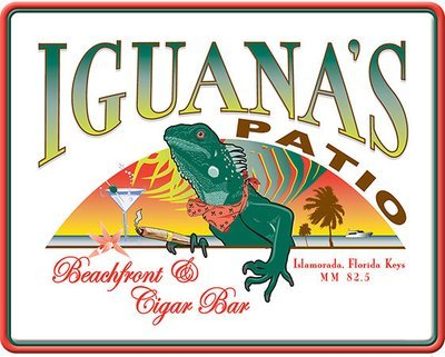 IGUANA'S PATIO BAR * 8'' x 10''