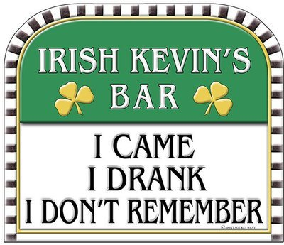 IRISH KEVIN'S I CAME I DRANK * 8'' x 10''