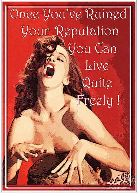 ONCE YOU'VE RUINED YOU REPUTATION * 7'' x 11''
