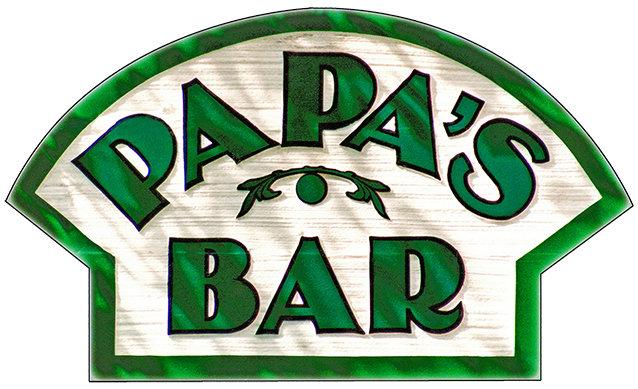 PAPA'S BAR * 8'' x 11'' 10064
