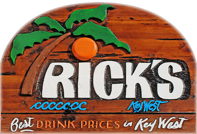RICK'S BEST DRINK PRICES * 8'' x 11'' 10071