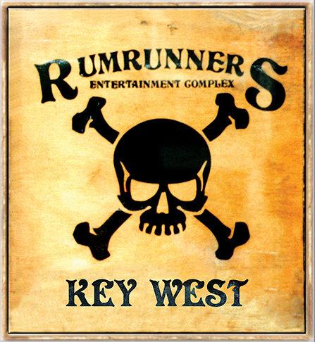 RUMRUNNERS SKULL * 8'' x 9'' 10074