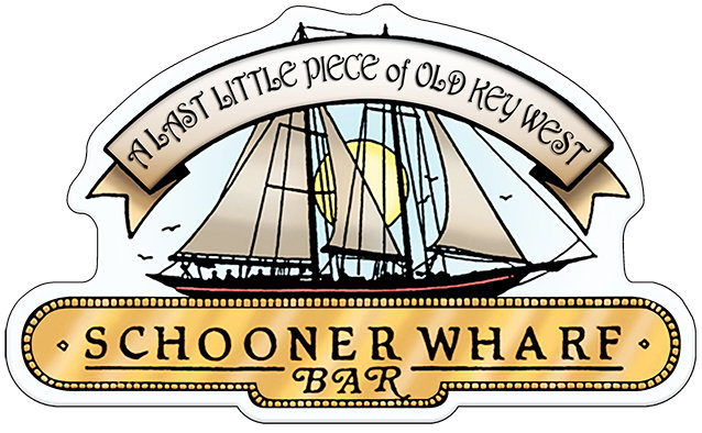 SCHOONER WHARF BAR WHITE SIGN * 8'' x 11'' 10077