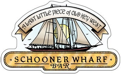 SCHOONER WHARF BAR WHITE SIGN * 8'' x 11''