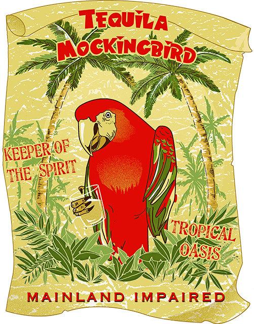 TEQUILA MOCKINGBIRD * 8'' x 11'' 10089