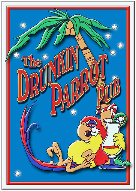 THE DRUNKEN PARROT TALL * 6'' x 11'' 10091