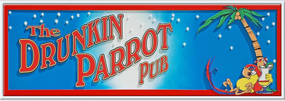 THE DRUNKEN PARROT LONG * 5'' x 15'' 10092