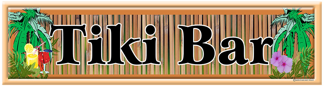 TIKI BAR BAMBOO * 4'' x 16'' 10096