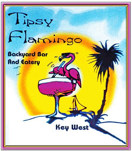 TIPSY FLAMINGO * 8'' x 11'' 10098