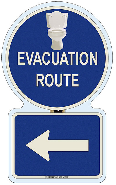 EVACUATION LEFT BATHROOM * 7'' X 11'' 10105