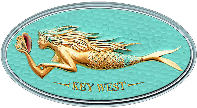 KEY WEST MERMAID * 6'' x 11'' 10128