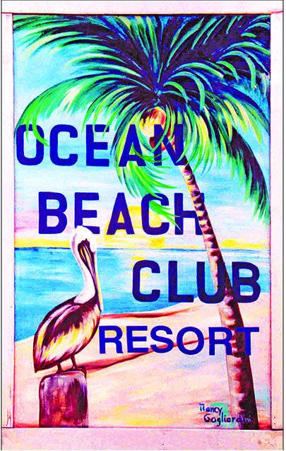 OCEAN BEACH CLUB PELICAN * 6'' x 11'' 10131