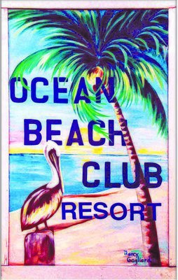 OCEAN BEACH CLUB PELICAN * 6'' x 11''