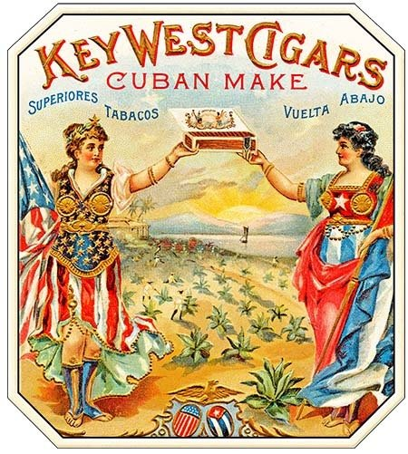 KEY WEST CIGARS CUBAN MAKE * 8'' x 9'' 10160