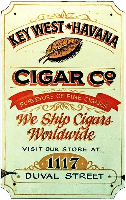KEY WEST HAVANA CIGAR CO. * 7'' x 11'' 10161