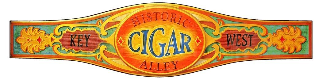 KEY WEST CIGAR LABEL * 4'' x 16'' 10162