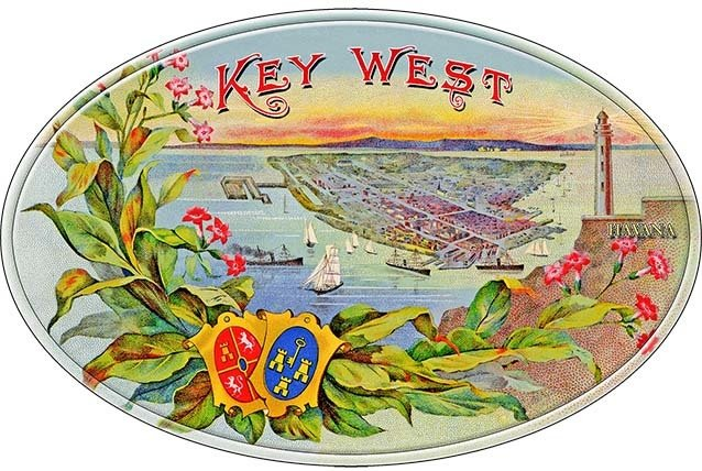KEY WEST CIGAR VIEW * 7'' x 11'' 10163