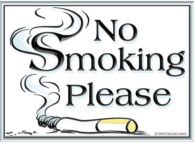 NO SMOKING PLEASE * 8'' x 11''