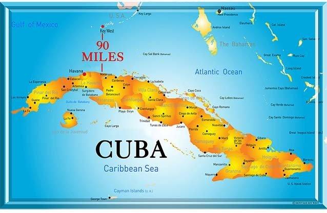 CUBA MAP * 7'' x 11'' 10171