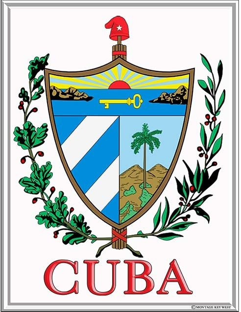 CUBA COAT OF ARMS * 7'' x 11'' 10175