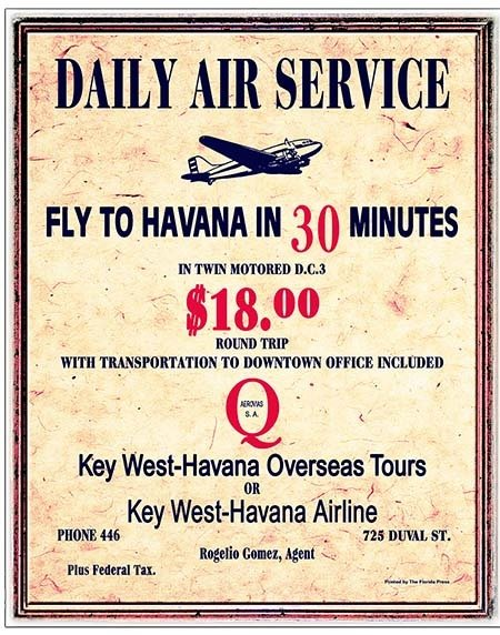 DAILY AIR SERVICE TO HAVANA * 8'' x 11'' 10183