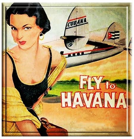 FLY TO HAVANA GIRL * 8'' x 9''