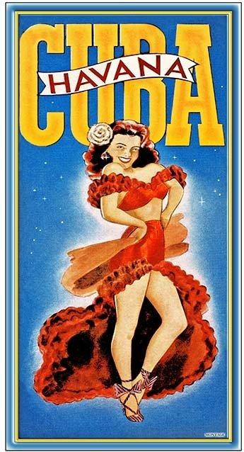 HAVANA CUBA DANCER * 6'' x 11'' 10190
