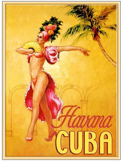 HAVANA CUBA DANCER YELLOW * 8'' x 11'' 10191