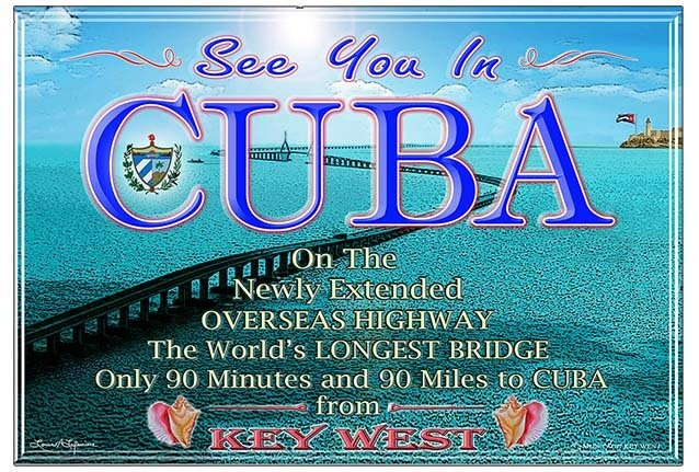 SEE YOU IN CUBA BRIDGE * 8'' x 11'' 10192