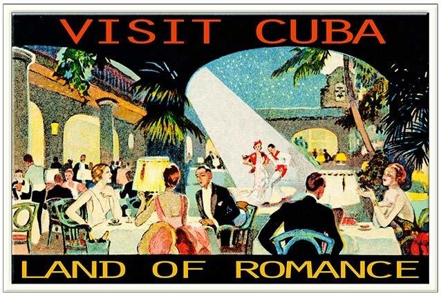 VISIT THE LAND OF ROMANCE CUBA * 6'' x 11''