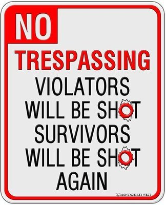 NO TRESPASSING * 8'' x 11''