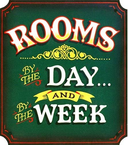 ROOMS BY DAY * 8'' x  9''